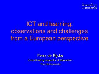 ICT and learning: perceptions and difficulties from an European point of view