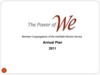 Interfaith Mission Administration Yearly Arrangement 2011