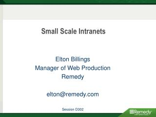 Little Scale Intranets