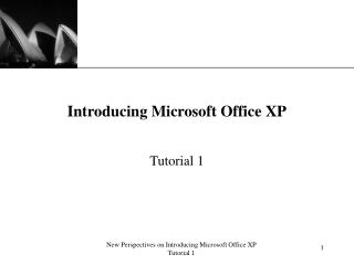 Presenting Microsoft Office XP