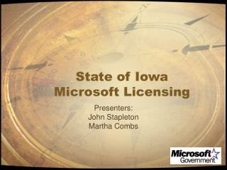 Condition of Iowa Microsoft Authorizing
