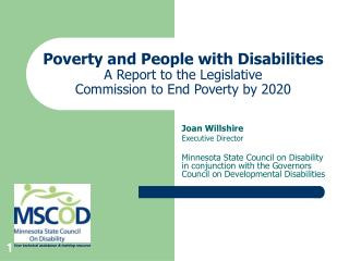Destitution and Individuals with Incapacities A Report to the Administrative Commission to End Neediness by 2020