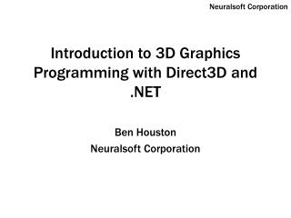 Prologue to 3D Design Programming with Direct3D and .NET