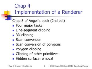 Chap 4 Usage of a Renderer