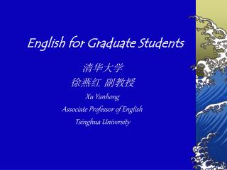 English for Graduate Understudies