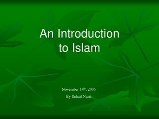 A Prologue to Islam