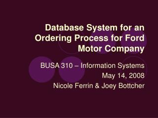 Database Framework for a Requesting Process for Passage Engine Organization