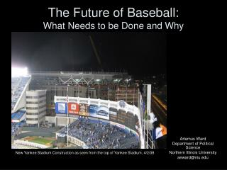 The Fate of Baseball: What Should be Done and Why