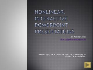 Nonlinear, intuitive PowerPoint Presentations