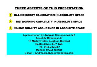 A presentation by Andreas Demopoulos, MD Outright Apply autonomy Ltd 18 Marley Fields, Leighton Vulture Bedfordshire, LU