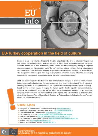 EUROPEAN UNION Appointment OF THE EUROPEAN COMMISSION TO TURKEY