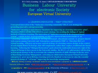 E.U. CALL e.Learning : 12. Attach 3 - Definite Undertaking Portrayal Business Work College for electronic Culture Europe