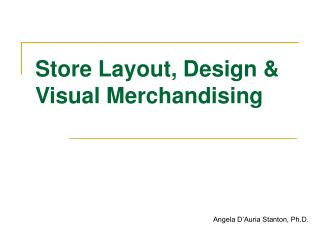 Store Format, Plan and Visual Marketing