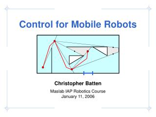 Control for Portable Robots
