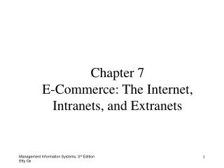 Part 7 E-Business: The Web, Intranets, and Extranets