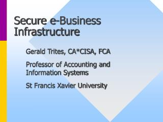 Secure e-Business Foundation