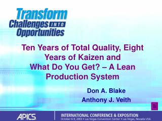 Ten Years of Aggregate Quality, Eight Years of Kaizen and What Do You Get?