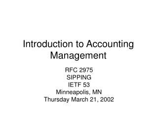 Prologue to Bookkeeping Administration