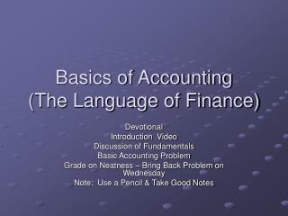 Rudiments of Bookkeeping (The Dialect of Fund)