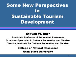 Some New Points of view in Reasonable Tourism Improvement