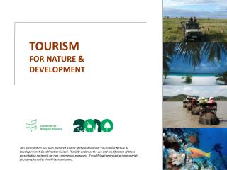 TOURISM FOR NATURE and Advancement