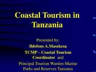 Seaside Tourism in Tanzania