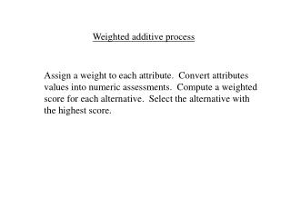 Weighted added substance process