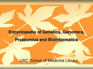 Reference book of Hereditary qualities, Genomics, Proteomics and Bioinformatics