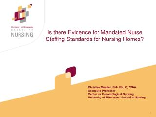 Is there Confirmation for Ordered Medical attendant Staffing Models for Nursing Homes?
