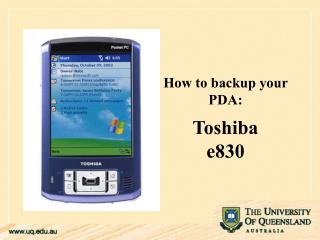 Step by step instructions to reinforcement your PDA: Toshiba e830