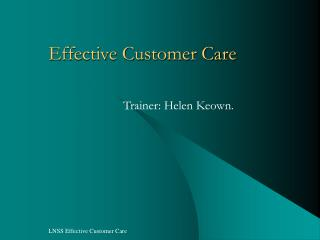 Successful Client Care