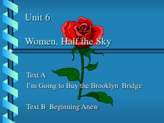 Unit 6 Ladies, A large portion of the Sky