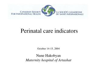Perinatal consideration pointers