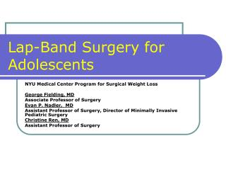 Lap-Band Surgery for Youths
