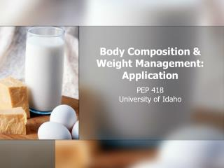 Body Piece and Weight Administration: Application