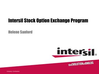 Intersil Investment opportunity Trade Program