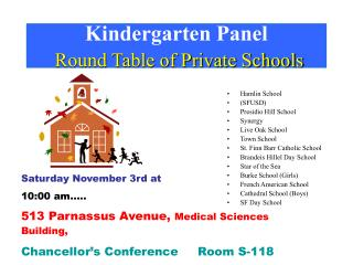 Kindergarten Board Round Table of Non-public schools