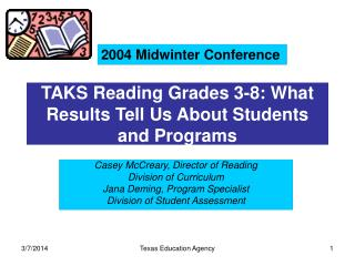 TAKS Perusing Grades 3-8: What Results Let us know About Understudies and Projects
