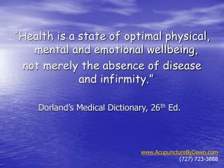 """Wellbeing is a condition of ideal physical, mental and passionate wellbeing, not simply the nonattendance of malady and"