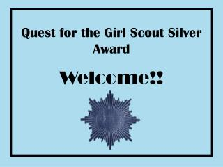 Mission for the Young lady Scout Silver Grant