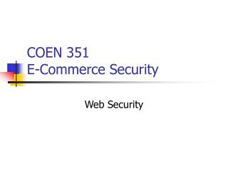 COEN 351 E-Trade Security