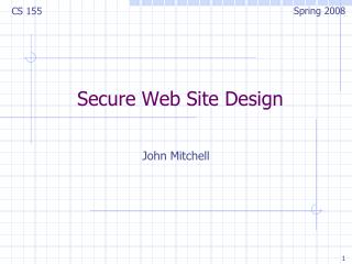 Secure Site Outline