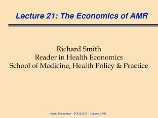 Address 21: The Financial matters of AMR