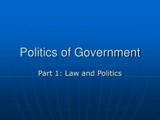 Legislative issues of Government