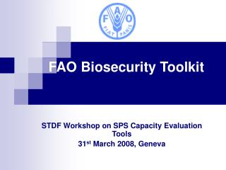 FAO Biosecurity Toolbox