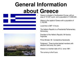 General Data about Greece