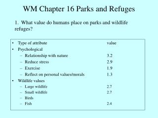 WM Section 16 Parks and Shelters