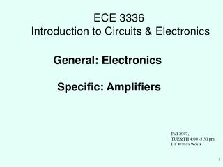 ECE 3336 Prologue to Circuits and Hardware