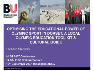 Enhancing THE Instructive Force OF OLYMPIC Game IN DORSET: A Nearby OLYMPIC Training Toolbox and Social Aide