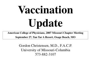 Immunization Upgrade